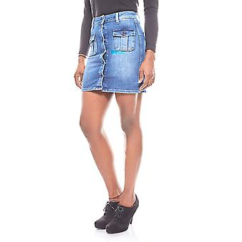 Pepe jeans for short women jeans skirt blue