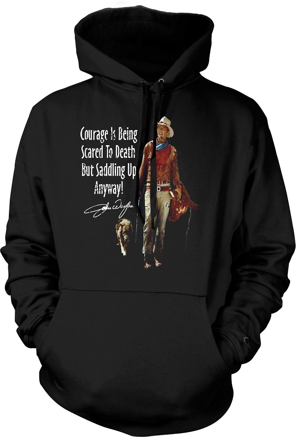 Para hombre con capucha - John Wayne valor - vaquero occidental