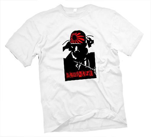 Herr T-shirt-Kamikaze Pilot japanska