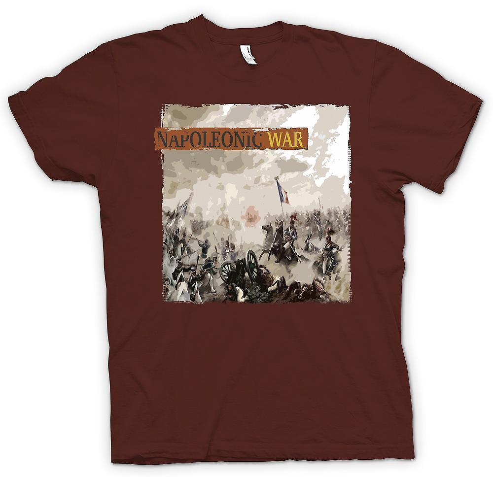 Mens t-skjorte - Napoleonskrigene - franske v engelsk
