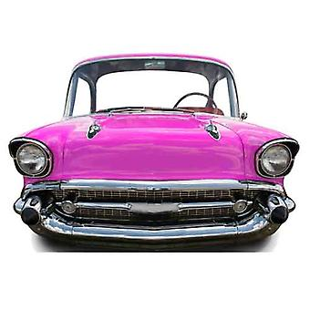 Pink Car (small) Child Size Cardboard Cutout / Standee