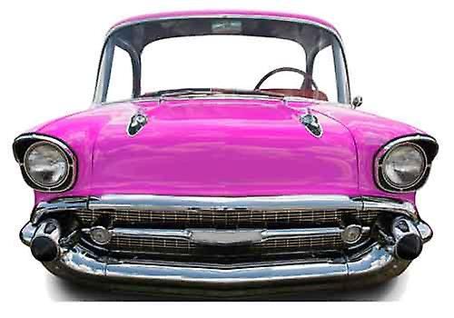 Rosa auto (piccolo) bambino dimensioni sagoma di cartone / Standee