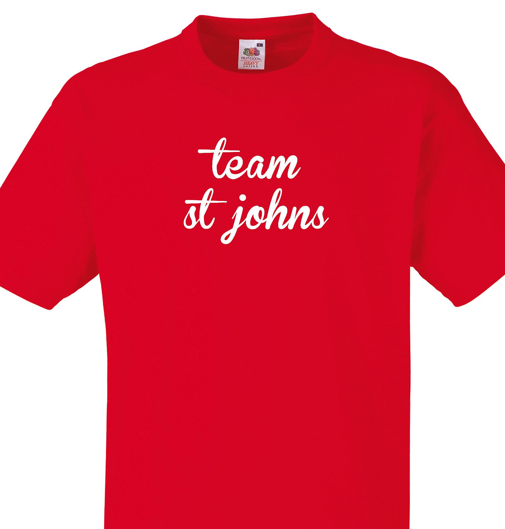 Team St johns Red T shirt
