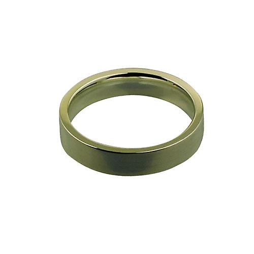 9ct Gold 4mm plain flat Court shaped Wedding Ring Size P