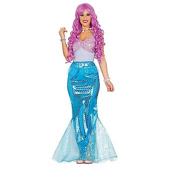 Womens zeemeermin Fancy Dress kostuum