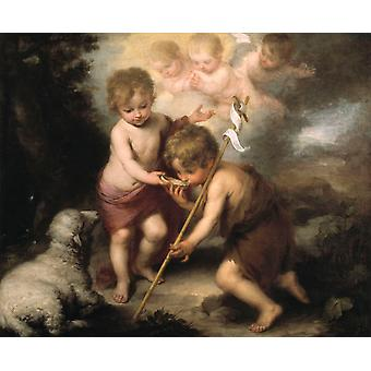 Infant Christ Offering a Drink,Bartolome Esteban Murillo,50x40cm