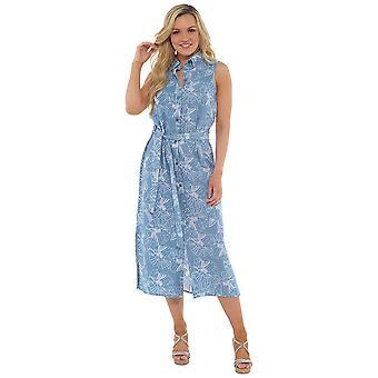 Мужская цветочным печать белья Rich кнопку через платье