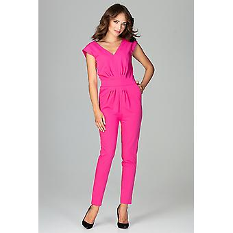 Lenitif vrouwen jumpsuits overall Fuchsia