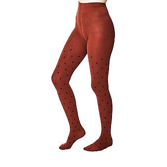 Winton women's super-soft warm bamboo tights in russet    By Thought