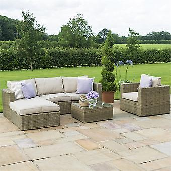 Maze Rattan Winchester Chaise Corner Sofa Set with Chair