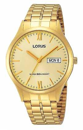 Lorus Mens All Gold With Day And Date RXN04DX9 Watch