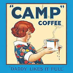 Camp Coffee ''Daddy'' drinks mat / coaster   (hb)