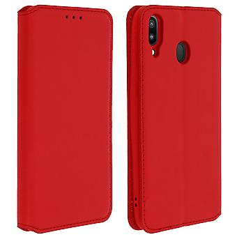 Slim Case, Classic Edition stand case with card slot for Samsung Galaxy M20 Red