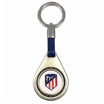 Atletico Madrid Spinner Keyring BL