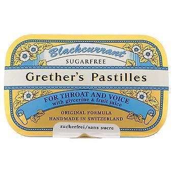Gretheres schwarze Johannisbeere Pastilles Zucker frei 60g