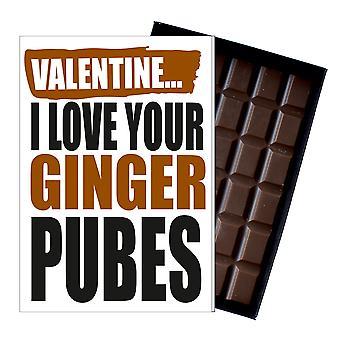Grappige Valentines Day Gifts voor vriendin vrouw vriendje man chocolade wenskaart IYF139