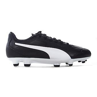 Puma Monarch FG stevige Ground Kids Junior Voetbalschoen schoenen zwart/wit
