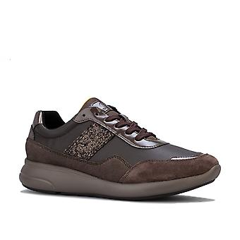 Womens Geox Ophira Trainers in chestnut.