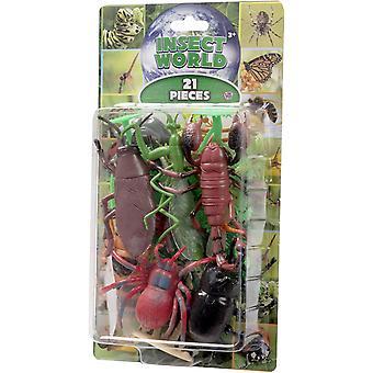 Natural World 21st Insect Playset Insekter 5-15cm Figurer Lekset