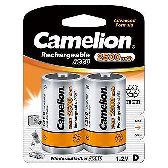 2x Camelion rechargeable D Batteries NiMH HR20 LR20 2500mAh battery
