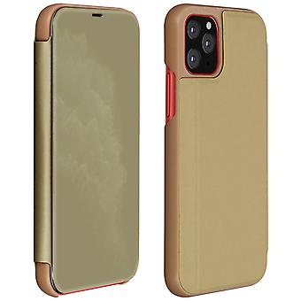 Flip Case, Mirror Case for Apple iPhone 11 Pro, Standing Cover - Gold
