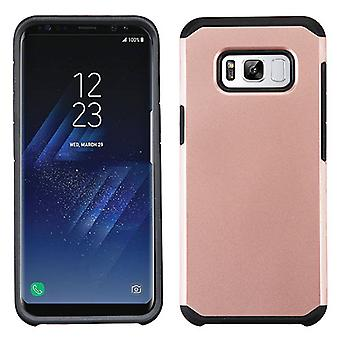 ASMYNA Rose Gold/Black Astronoot Phone Protector Cover for Galaxy S8 Plus