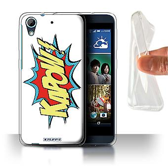 STUFF4 Gel/TPU Case/Cover voor HTC Desire 626G +/ Kapow! / strips/Cartoon woorden