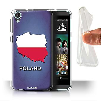 STUFF4 Gel/TPU Case/Cover for HTC Desire 820s Dual/Poland/Polish/Flag Nations