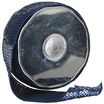 Square Sequin Trim 40Mm X 15.95 Yards Navy 9801 40 23