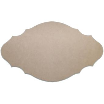 Unfinished Mdf Plaque 1 Pkg French 12.5