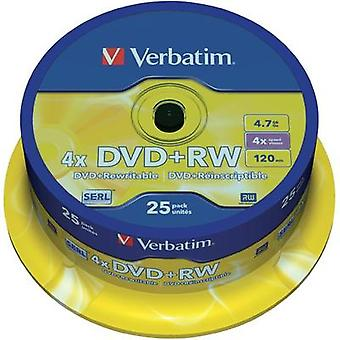 Blank DVD+RW 4.7 GB Verbatim 43489 25 pc(s) Spindle Rewritable