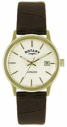 Rotary Avenger Gents Gold Plate Strap GS02876/03 Watch