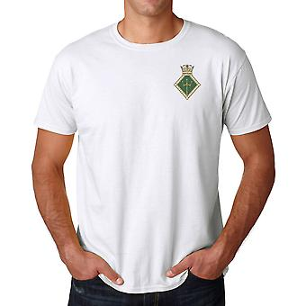 HMS Neptune Embroidered Logo - Official Royal Navy Cotton T Shirt