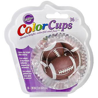ColorCup Standard Baking Cups-Football 36/Pkg W415CC-2134