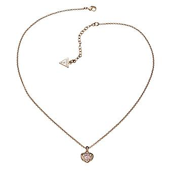 Guess ladies chain necklace stainless steel of Rosé gold UBN21564