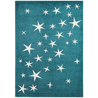 Childrens krikand blå alle stjerner soveværelse tæppe