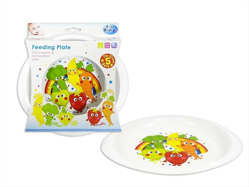 First Steps Gimmie 5 Gang Feeding Plate with Colourful & Fun Design