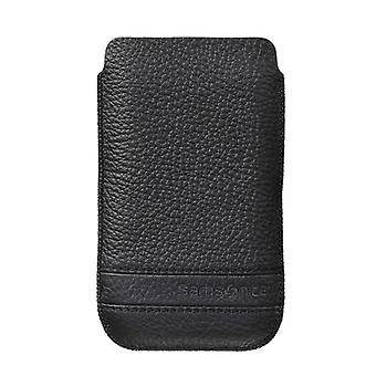 SAMSONITE CLASSIC mobile phone bag leather Black to tex iP4