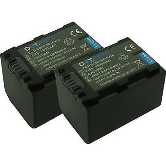 2 x Dot.Foto Sony NP-FV60, NP-FV70 akumulator - 7.4V / 1800mAh