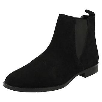 Damer læder samling ankel støvler F50666