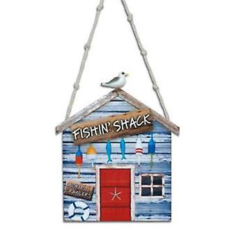 Pesca Shack gusanos y orugas navidad ornamento de vacaciones