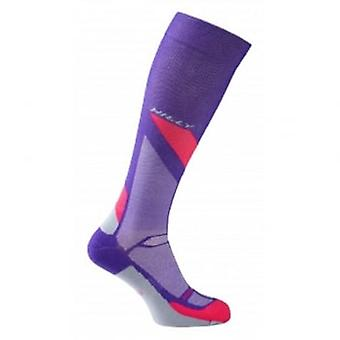 Marathon Fresh Compression Sock Womens Purple/Pink/Grey