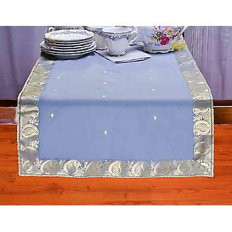 Gray - Hand Crafted Table Runner (India)