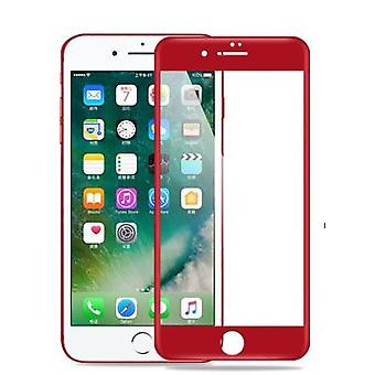 RED Full Cover Tempered Glass 3D Curved Screen Protector For iPhone 7