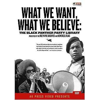 Hvad vi ønsker hvad vi tror: Black Panther Party [DVD] USA import