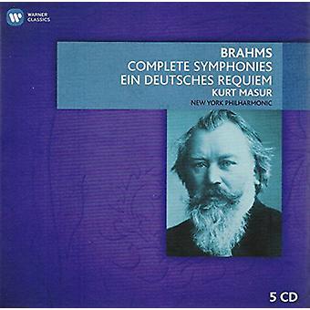 Brahms/Kurt Masur / Nueva York Phil Orch - importación de Estados Unidos Comp Syms y Ein Deutsches Requiem [CD]