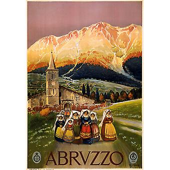 Abruzzo travel poster Poster Print Giclee