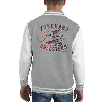 Varsity Jacket Haynes marca Yokohama dragster moto capretto