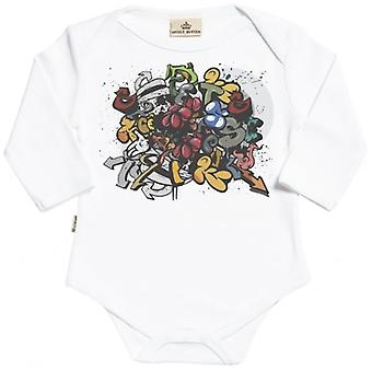 Spoilt Rotten Graffiti Long Sleeve Organic Baby Grow