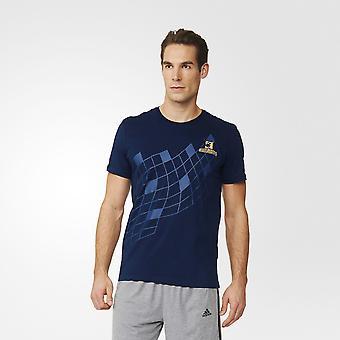 ADIDAS highlanders super rugby grafisk t-skjorte [marinen]